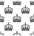 Heraldic seamless pattern with black royal crowns vector