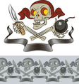 Furious skull of pirate vector