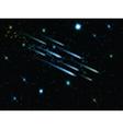 Night sky with shooting stars 1806 vector