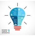 Light buble infographic template for vector