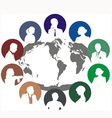 World network of people and the internet vector