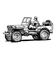 World war two army jeep vector