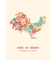 Abstract decorative circles rooster vector