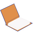 Opened cardboard folder vector