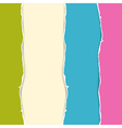 Retro colorful torn paper background vector