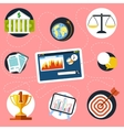 Digital tablet with finance and analysis icons vector
