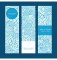 Abstract swirls vertical banners set pattern vector
