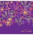 Colorful garden plants horizontal frame vector
