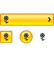 Flower button set vector
