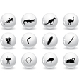 Web buttons australian icons vector