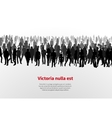 Large group of people background vector