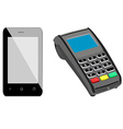 Smartphone and pos vector