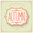 Autumn vintage plate vector