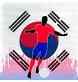 Football korea vector