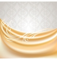 Beige silk curtain vector