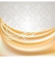 Beige silk curtain vector