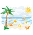 Funny beach vector