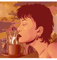 Coffee aroma vector