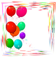 Bright frame with balloons vector