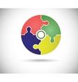 Abstract color circle vector