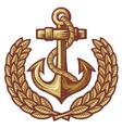 Anchor and laurel wreath vector