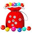 Santas bag vector