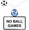 Ball games sign vector