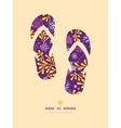 Purple and gold underwater plants flip flops vector
