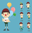 Set of boy birthday and celebration vector