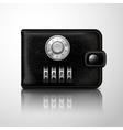 Wallet locked with combination code vector