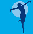 Dancing woman silhouette vector