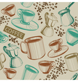 Seamless hand drawn coffee pattern vector