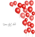 Red balloons vector