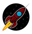 Space rocket vector