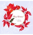 Background with bouquet of poinsettia vector