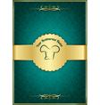 Green decorative restaurant menu cover vector