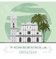 Venezuela landmarks retro styled image vector
