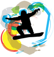 Wake boarder in action vector