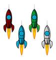 Space rocket set vector