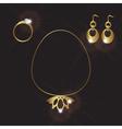 Lady jewels gold set eps10 vector