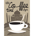 Coffee taj mahal vector