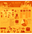 Fuel industry infographic set elements for vector