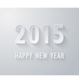 Happy new year 2015 paper postcard vector