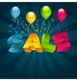Sale with balloons vector