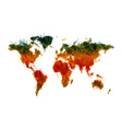 Grunge world map vector