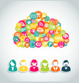 Social media cloud computing concept vector