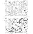 Beach maze vector