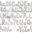 Grunge seamless font wallpaper vector