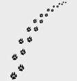 Dogs footprints vector