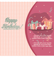 Retro vintage happy birthday card with gifts vector